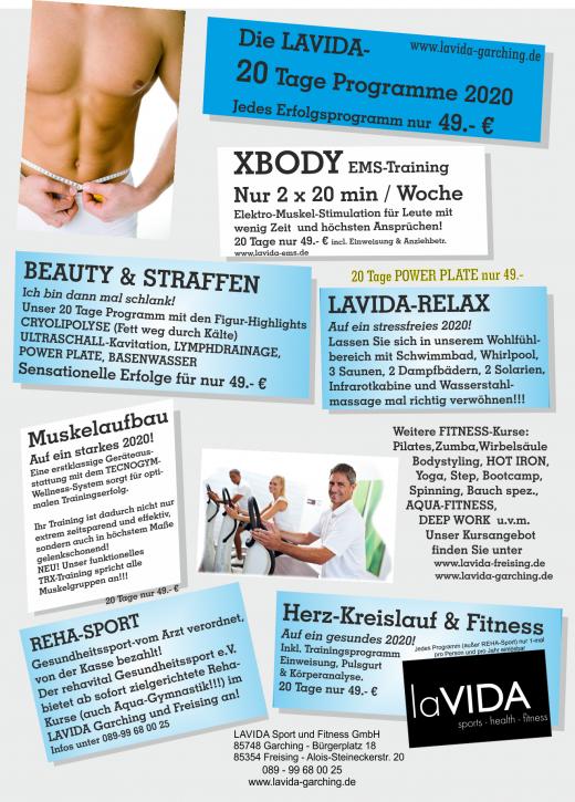 LAVIDA 20 Tages-Programme - Fit, schlank und gesund ins neue Jahr