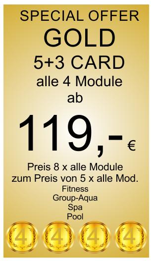 Gold 5+3 Card