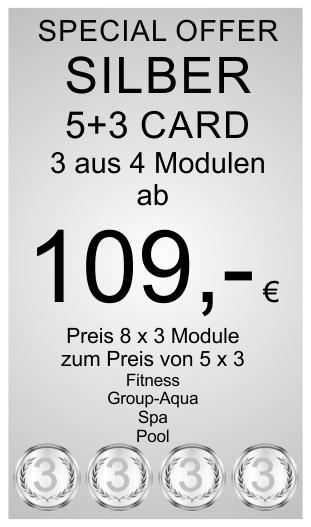 Silber 5+3 Card