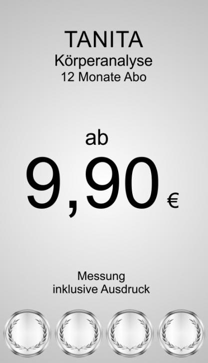 Abbonamento di misurazione del corpo 12 mesi
