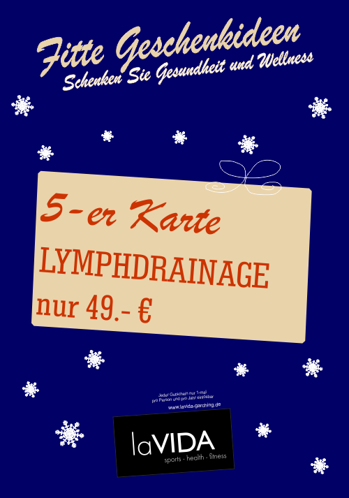 Lymphdrainage 5-er Karte