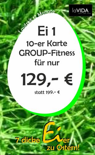 10 x Gruppenfitness - 12 Monate Laufzeit