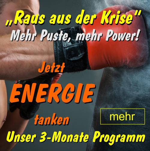MEHR PUSTE MEHR POWER - 3 Monate Energie-Programm