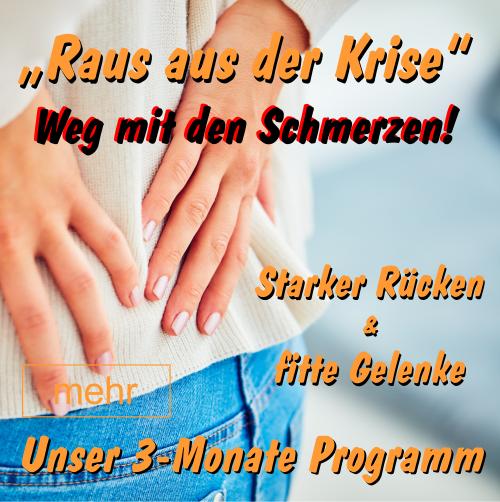 STARKER RÜCKEN & FITTE GELENKE - 3 Monate Schmerzfrei Programm